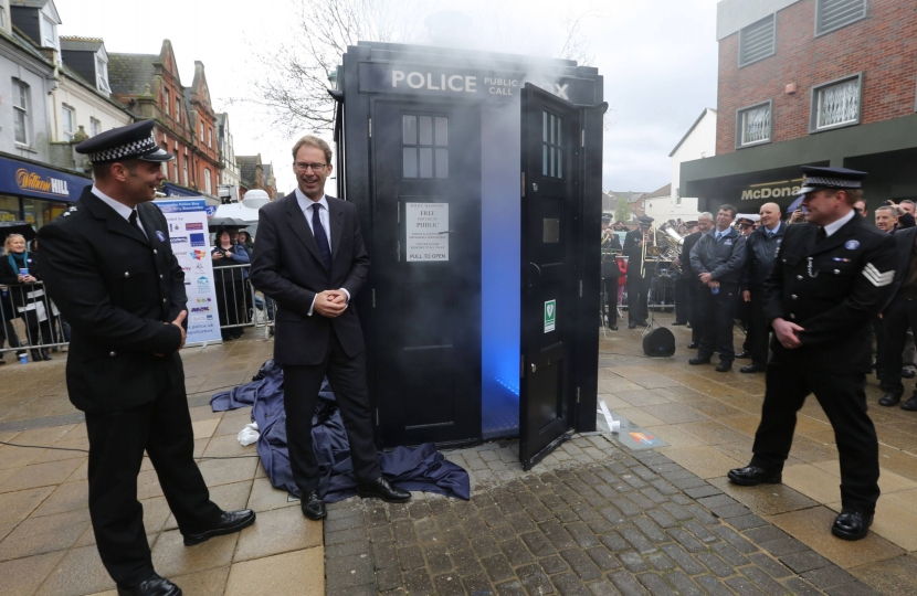 Opening the new Tardis Police Box in Boscombe